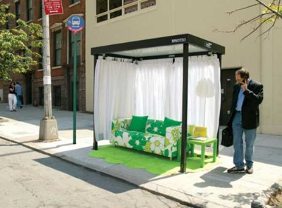 ikea bus stop ambient ad