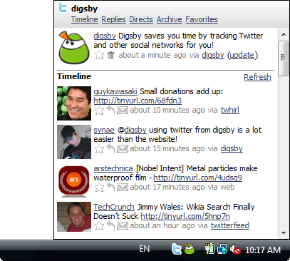 Digsby Twitter